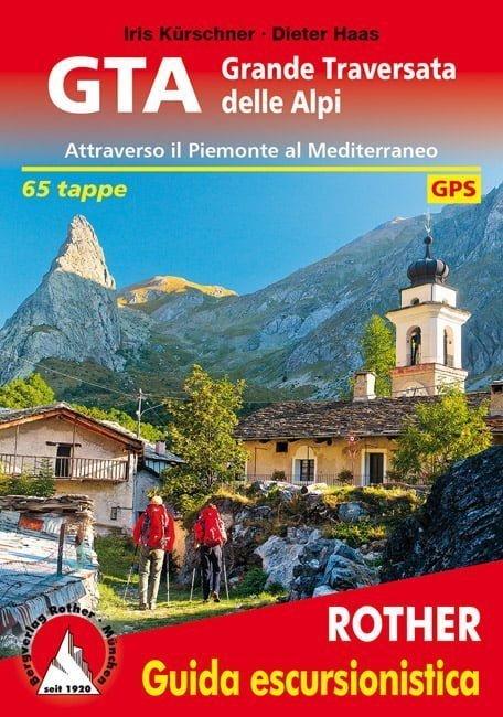 Cover Guida escursionistica Rother GTA Grande Traversata delle Alpi